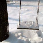 neve e giochi all'aria aperta