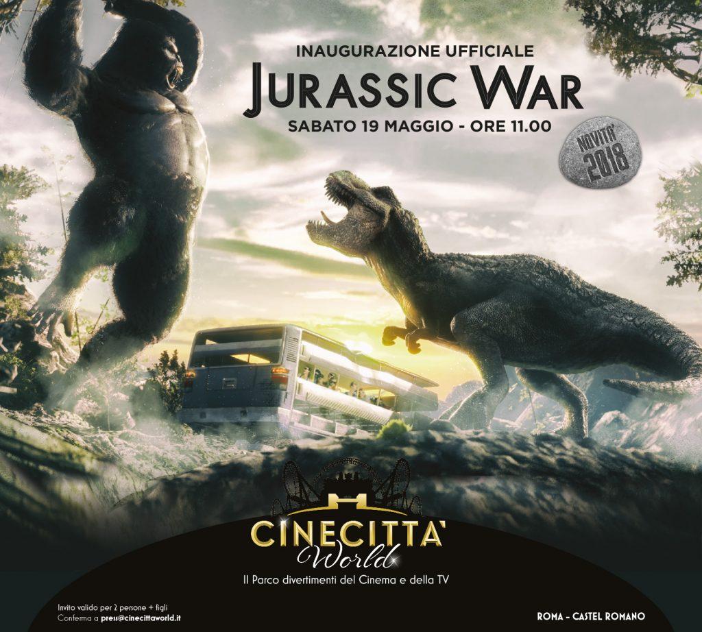 Cinecittà World arriva Jurassic War