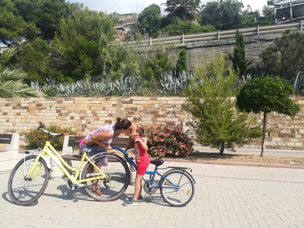 pedalare in famiglia