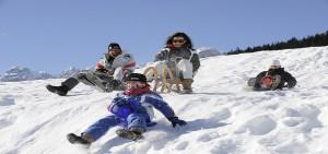 famiglia vacanze sulla neve in Trentino